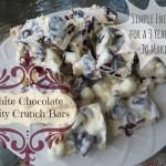Cooking Kids: White Chocolate Fruity Crunch Bars