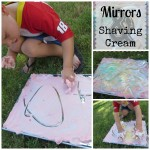 Handwriting with Shaving Cream and a Mirror