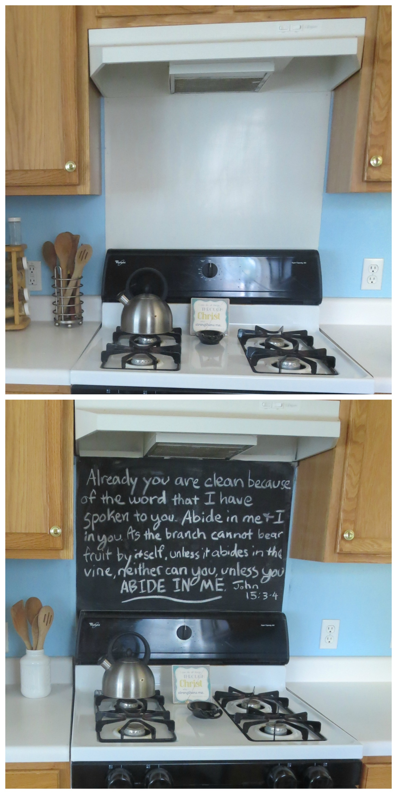 Revamp Your Stove Backsplash With Chalkboard