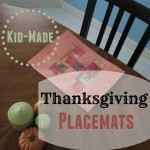 Kid-Made Thanksgiving Placemats