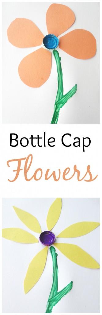 Bottle Cap Flowers Craft