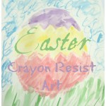 Easter Watercolor Crayon Resist Art