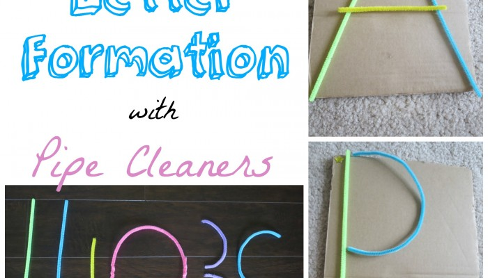 Tactile and Kinetic Letter Formation with Pipe Cleaners