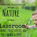 A Homeschool Preschool Curriculum where Nature is the Classroom