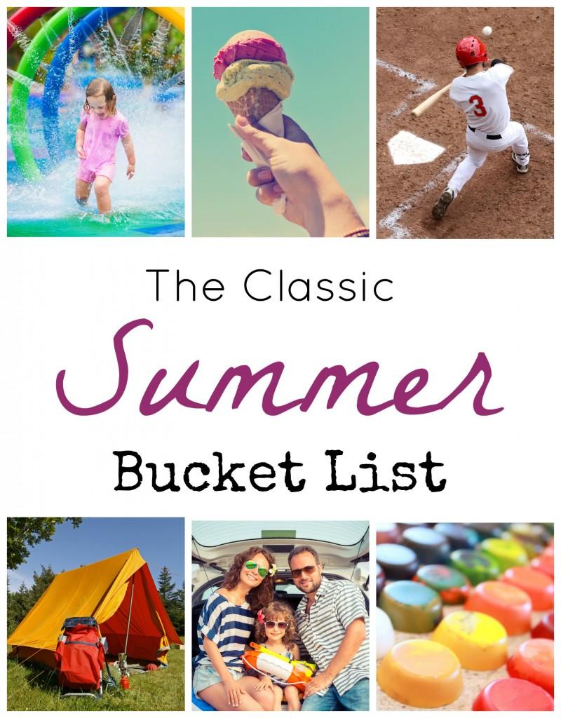 Classic summer bucket list