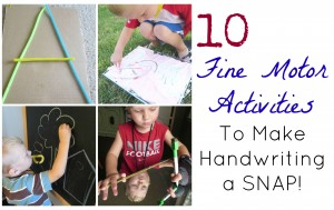 Fine Motor skills for handwriting development