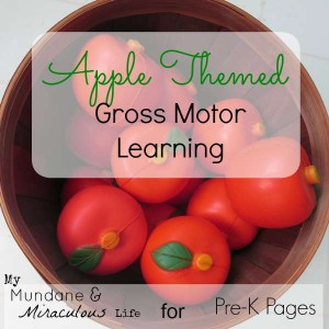 Apple Theme Sensory Learning