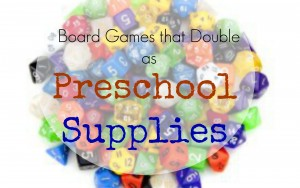 Family Board Games that Double as Preschool Educational Manipulatives