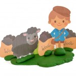 Baa, Baa, Black Sheep Play Dough Mat (Free Printable)