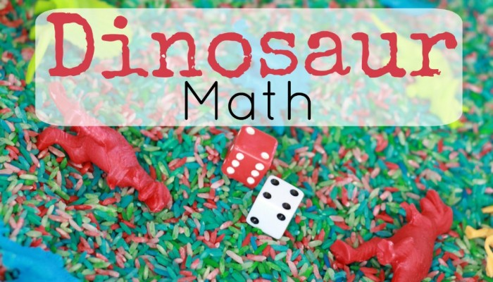 Dinosaur Sensory Bin: Counting and Math