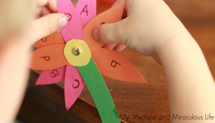 Spring Learning Activity: Upper and Lowercase Letter Matching