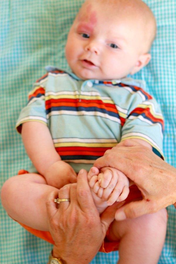 Baby Midline Crossing Sensory Activity