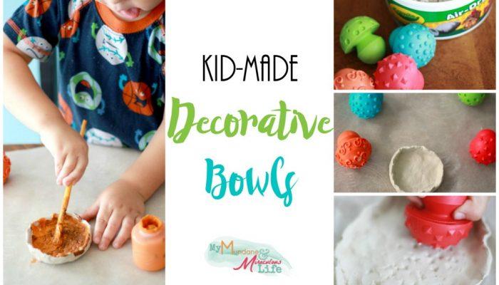 Kid-Made Decorative Bowls