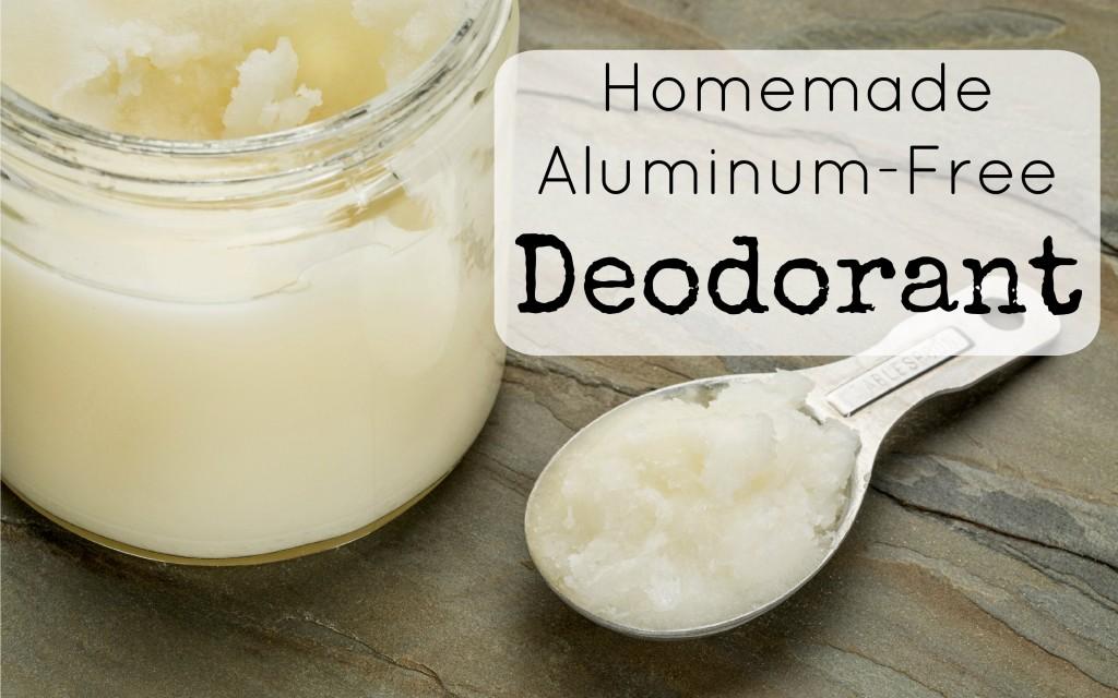 homemade aluminum free deodorant
