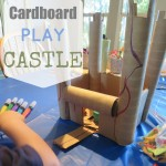 Cardboard Tabletop Play Castle