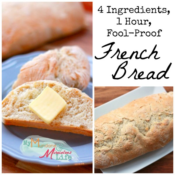 Four Ingredient Fool Proof Easy French Bread