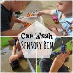 Car Wash Sensory Bin
