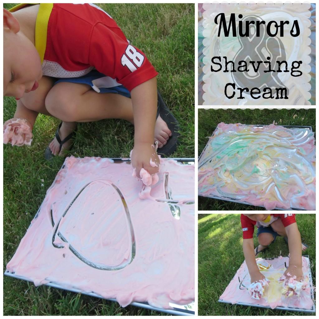 Shaving Cream Collage