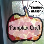 """Stained Glass"" Pumpkin Craft"