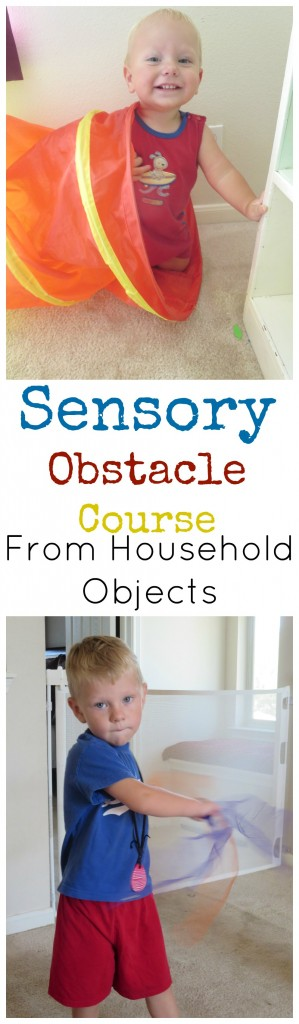 Sensory Obstacle Course from Household Objects