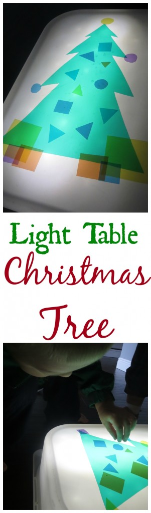 Christmas Tree Light Table