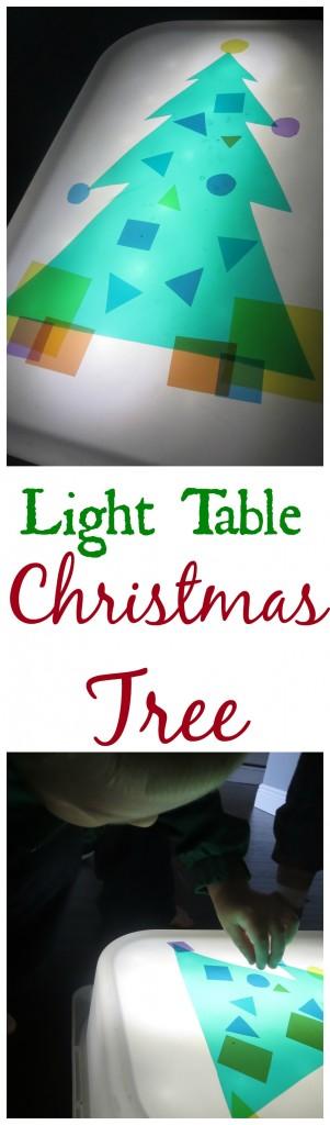 Christmas Tree Light Table