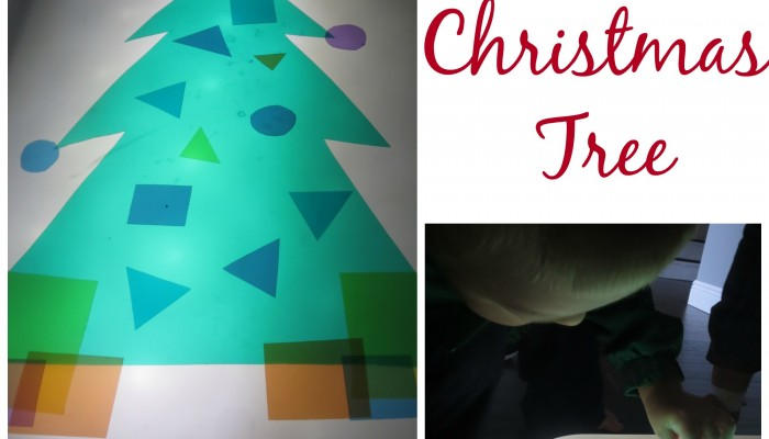 Christmas Tree Light Table Play