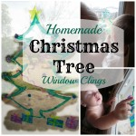 Homemade Christmas Tree Window Clings
