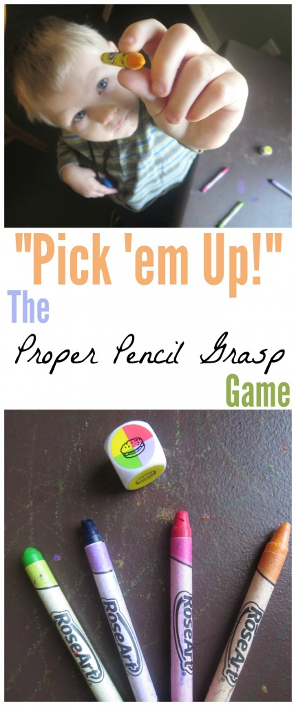 Pencil Grasp Game Pin