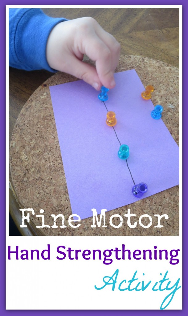 Push Pin Hand Strengthening