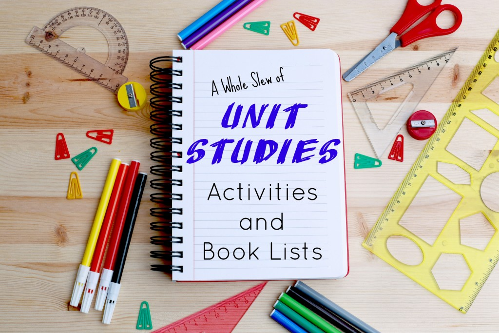 A variety of school supplies with a link to a large list of educational resources including study topics, interactive activities and classroom book lists.