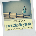 What We Hope to Accomplish by Homeschooling: Setting Our Goals Before We've Even Begun