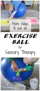 Exercise Ball for Sensory Therapy