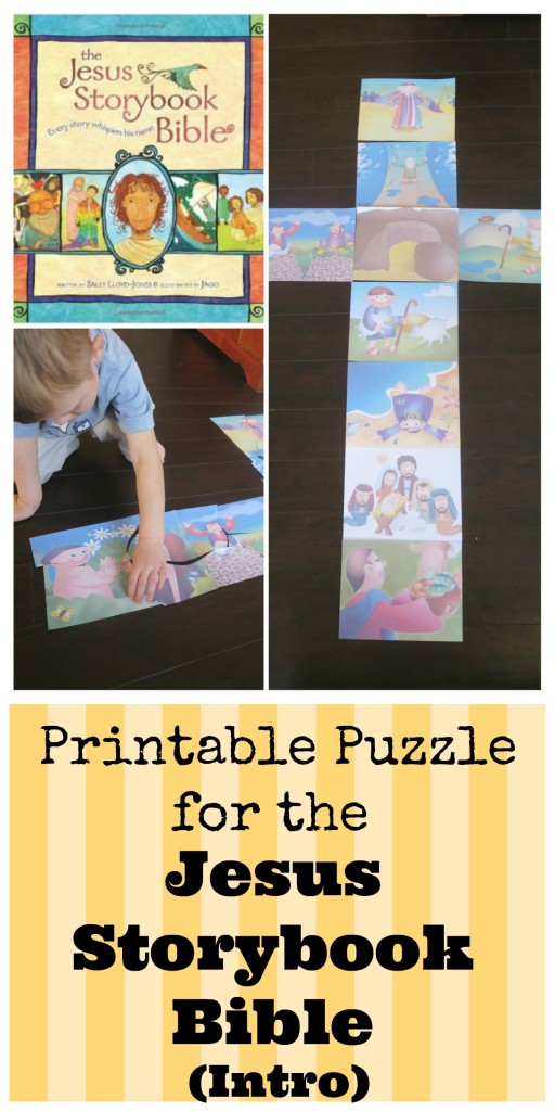 Jesus Storybook Bible Activities Intro Puzzle