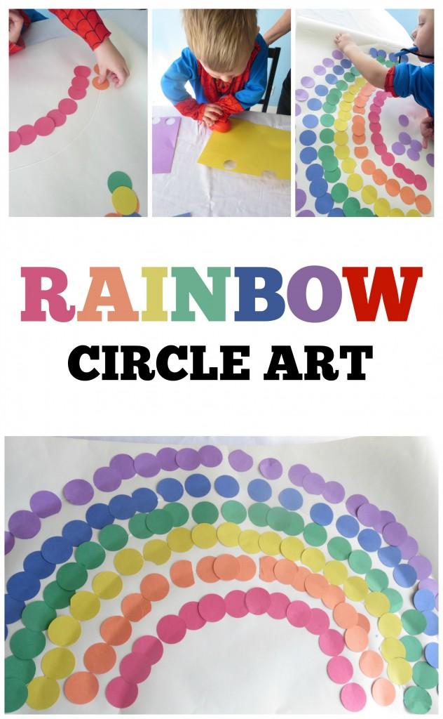 Rainbow Circle Art