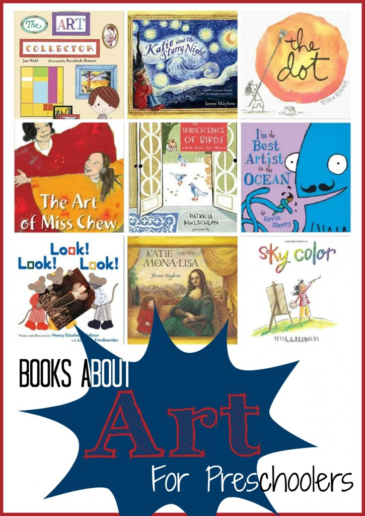 Books about Art for Preschoolers Pin