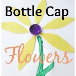 Spring Craft: Bottle Cap Flowers