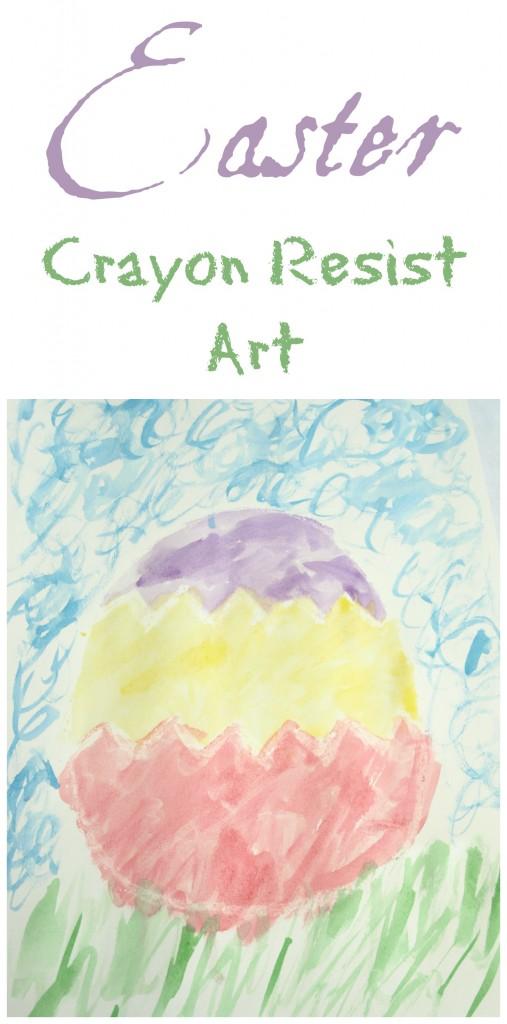 Easter Crayon Resist Art
