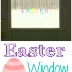 DIY Easter Window Clings