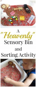 Activity for the Jesus Storybook Bible: Heaven… Sensory Play and Sorting Activity