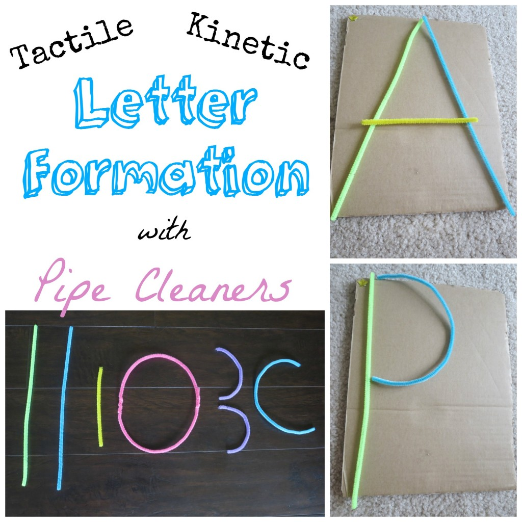 Letter Formation with Pipe Cleaners