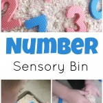 Number Recognition Sensory Bin