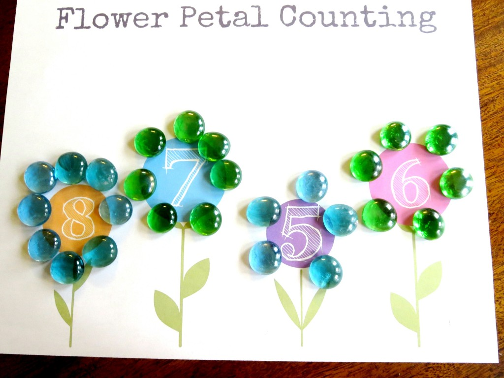 Plant theme preschool math