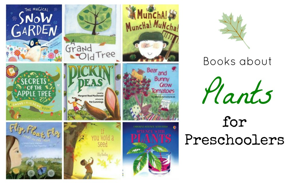 Easy to read covers of children's books about plants and gardening