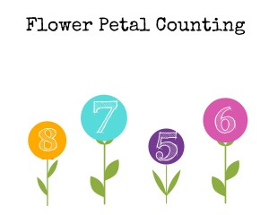 Printable Flower Petal Counting 5-8