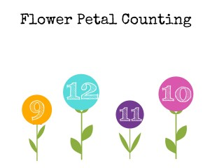 Printable Flower Petal Counting 9-12
