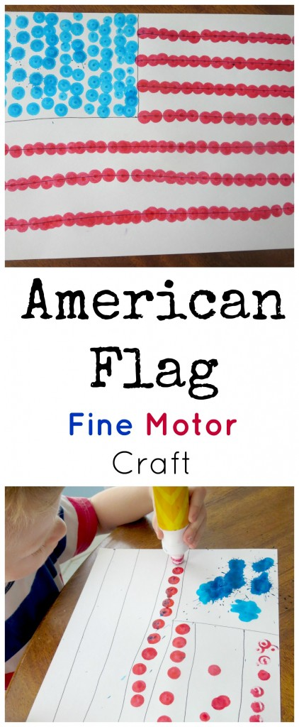 American Flag Fine Motor Craft