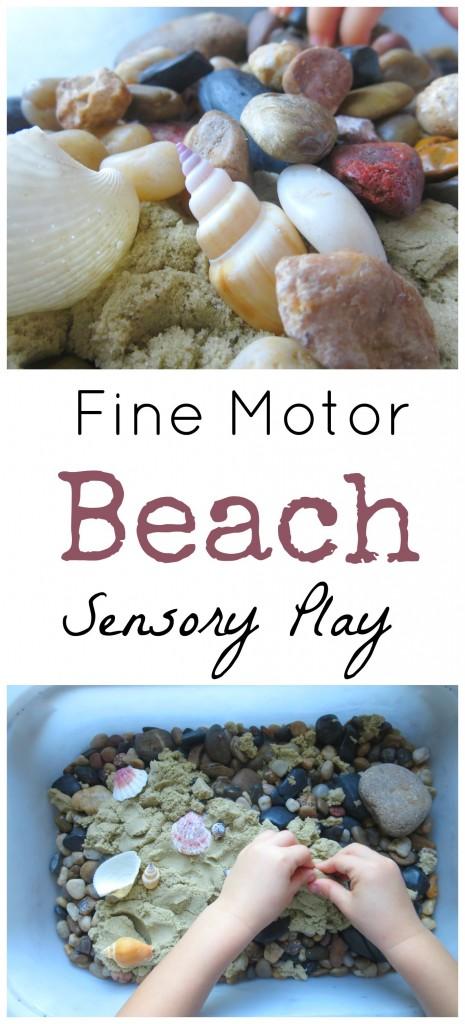 Fine Motor Beach Sensory Play