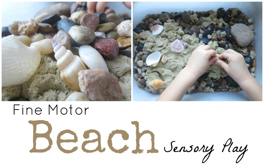 Fine Motor Beach Sensory Play FB