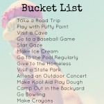 Printable Freebie Classic Summer Bucket List